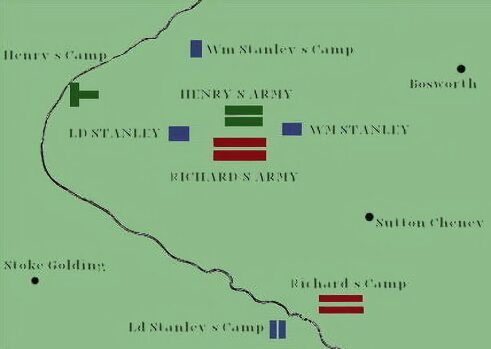 Plan of the Battle of Bosworth
