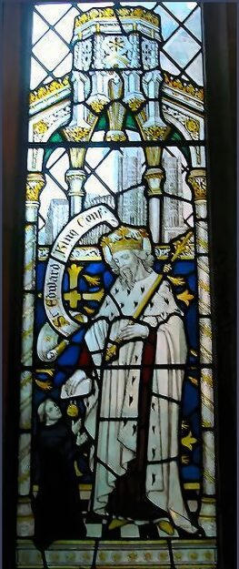Edward the Confessor in stained glass