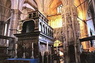 The tomb of Edward the Confessor at Westminster Abbey