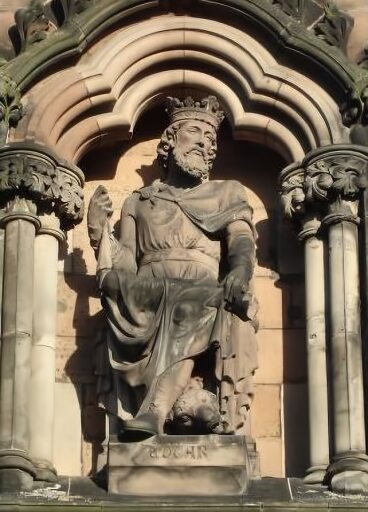 Statue of Edgar the Peaceful from Lichfield Cathedral