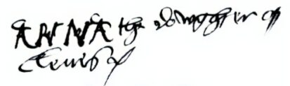 Anne of Cleves signature