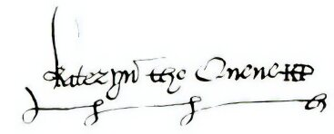 Signature of Catherine Parr