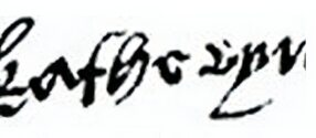 Signature of Catherine Howard