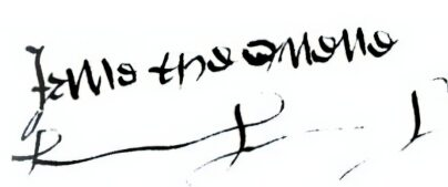 Jane Seymour's Signature
