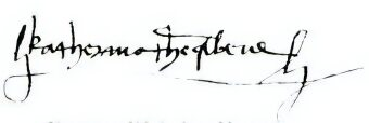 Signature of Katherine of Aragon