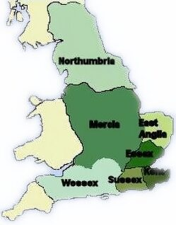 Map Of Old England Wessex.The Anglo Saxon Tribal Kingdoms The Heptarchy