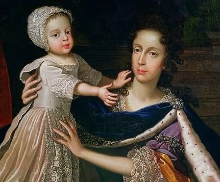 Mary of Modena with her son, James Francis Edward Stuart