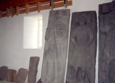 Tombstones of the early Scottish Kings at Iona