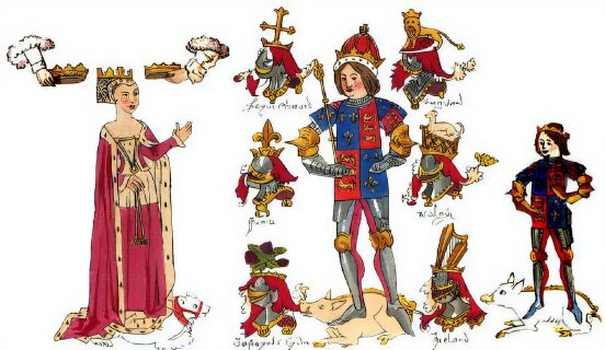 Richard III and his family, Rous Roll