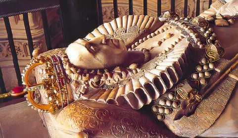 Effigy of Elizabeth I, Henry VII Chapel, Westminster Abbey