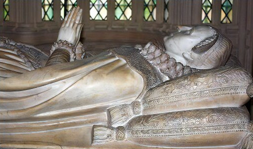 Effigy of Mary, Queen of Scots, Henry VII Chapel, Westminster Abbey