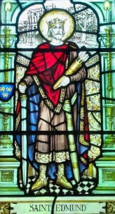 St. Edmund in stained glass