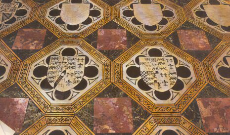 The Victorian commemorative pavement in the Chapel of St Peter ad Vincula
