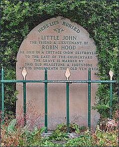 The grave of Little John, Hathersage