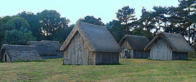 Reconstructed Anglo-Saxon village at West Stow
