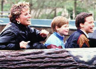 William, Harry and Diana