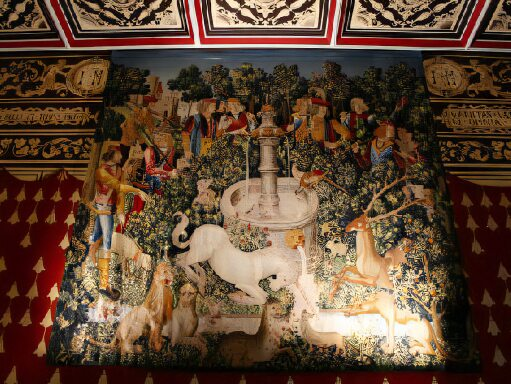 The throne room and the Unicorn Tapestry