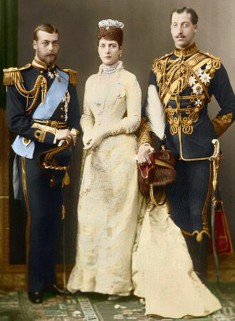 Alexandra of Denmark, Albert Victor, Duke of Clarence and George Duke of York