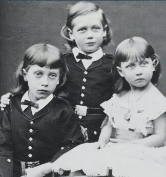 Prince Albert Victor, Prince George and Princess Louise