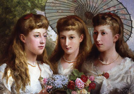 Louise, Victoria and Maud, the daughters of Edward VII