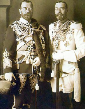 King George V and Tsar Nicholas II