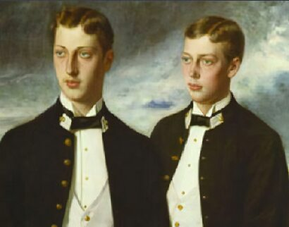 Albert Victor Duke of Clarence and Prince George