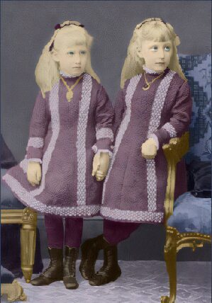 Helena Victoria and Marie Louise of Scleswig-Holstein
