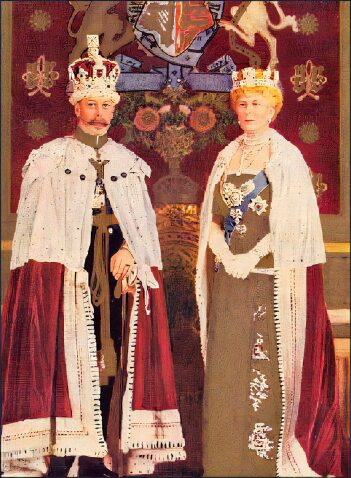 George V and Queen Mary.