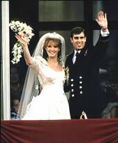 The wedding of Prince Andrew and Sarah Ferguson