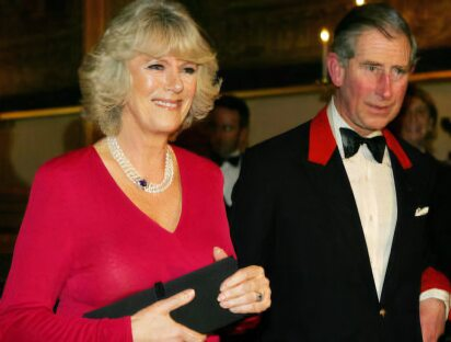 Charles and Camilla at the announcement of their engagement
