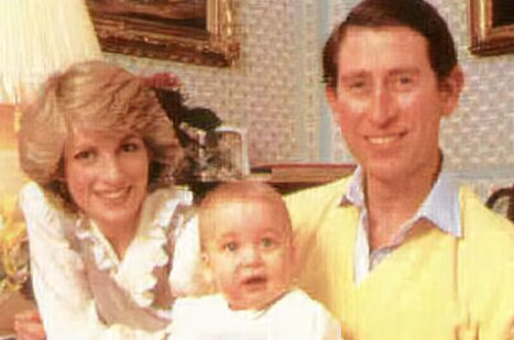 The young Prince William with his parents